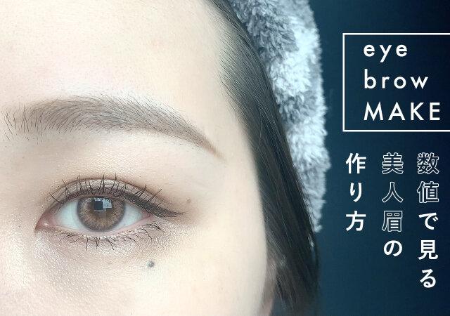 どんな人でも必ず美人眉になれる 数値で見るからわかりやすい 黄金バランス美眉の作り方 Michill ミチル