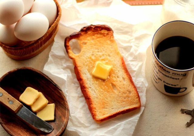 スマホケース パン お洒落 フェイクフード トースト 画像