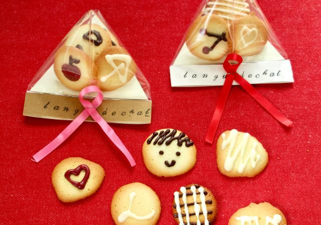 サックサクのクッキー ラングドシャ 簡単かわいいラッピング