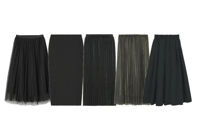 GU ダークカラースカート 画像
