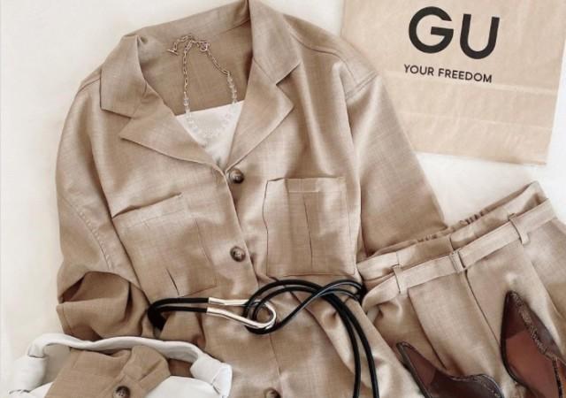 gu オープンカラーダブルポケットシャツ