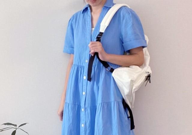 ZARA パネル ミディワンピース ティアードスカート シャツ