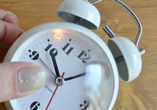 ダイソー 目覚まし時計(ラウンド型) ライト