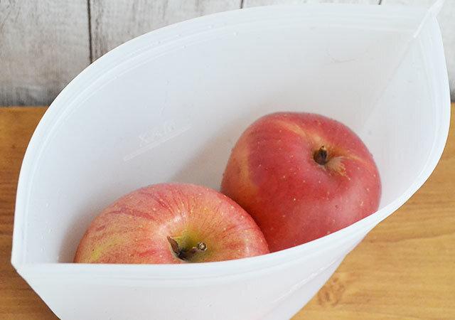 ダイソー 100均 お得アイテム シリコーン保存袋 リンゴ