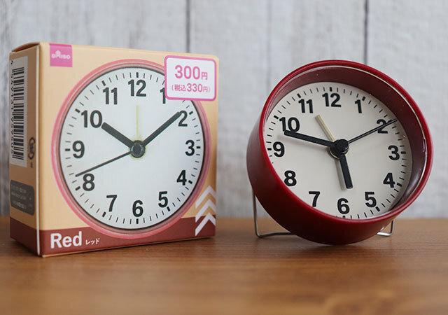 時計 ダイソー 表 正面
