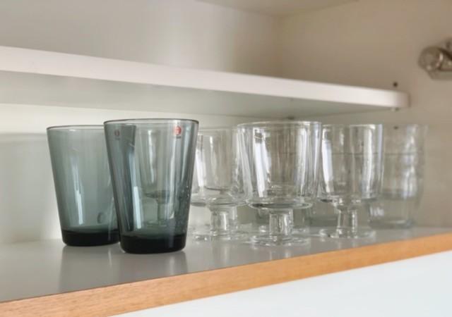 ガラスのコップ 収納 画像
