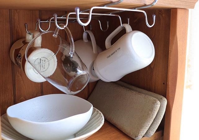 ダイソー 収納 キッチンマグ掛け コップ 収納例