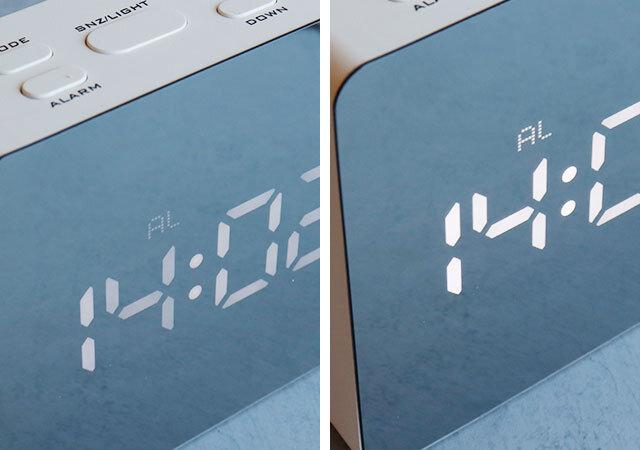 ダイソー ミラーデジタル時計 表示
