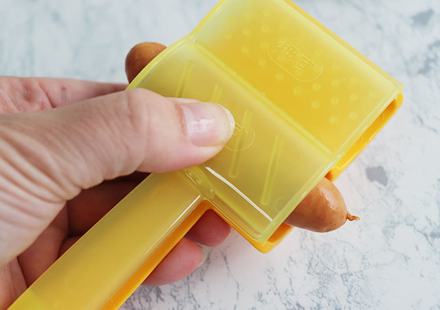 ウインナーパンチ ダイソー かざり切り 切込み 使用例