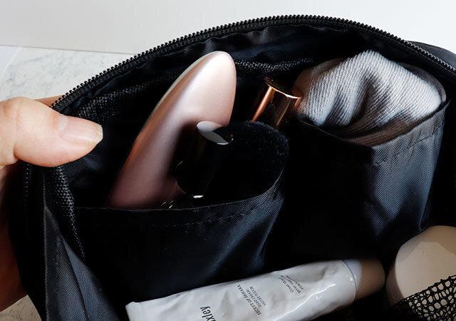ダイソー 化粧ポーチ バッグ 内ポケット マチ