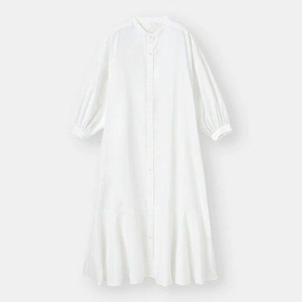 シャツアウター GU 即買い EccO イラスト バンドカラーシャツワンピース