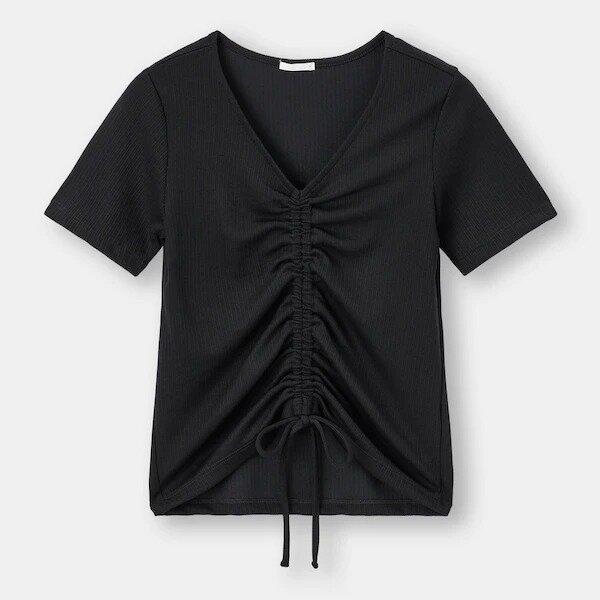 オーバーサイズシャツ GU 抜け感コーデ ナチコ イラスト フロントドローストリングT